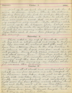 page from a handwritten diary